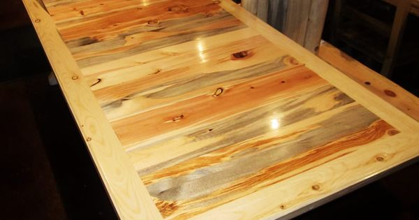 Blue Pine Beetle Kill Table Top For The Home Pinterest