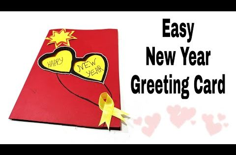 New Year Greeting Card How To Make Greeting Card For New Year New Year Card Making Handm New Year Card Making New Year Greeting Cards How To Make Greetings