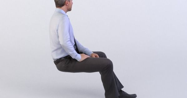 Dennis 0277 Business Man Sitting 3d Model Business Man Man Sitting People Cutout