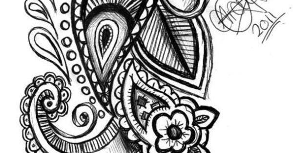 Paisley Tattoo sketch