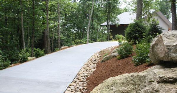 Boulders In Hillside Along Drive Or At End Of Driveway