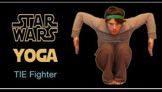 Star Wars yoga too funny