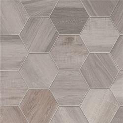 Wood Look Tile Hexagon Floor