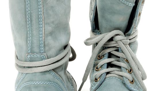 steve madden troopa blue leather lace up combat boots