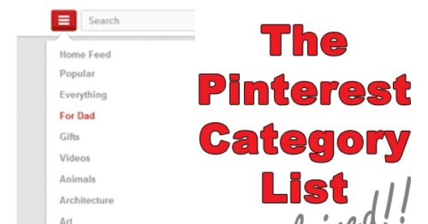 how to add categories to pinterst pin
