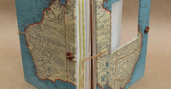 Australia Versatile Travel Journal - Map Book - Handmade for Artists, Collectors