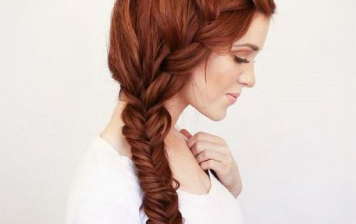rich copper hair hue bohemian braid