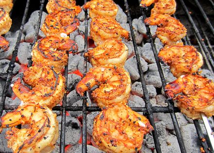 It's been a while since I grilled shrimp, so I decided to