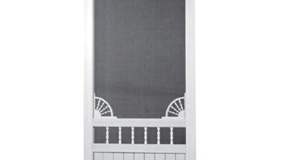 Screen Tight 36 In X 80 In Laurel Bay Solid Vinyl White Screen Door Lb36 Screen Tight Vinyl Screen Doors Decorative Screens