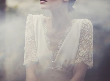 wedding dress, retro, vintage, style, Laure de Sagazan