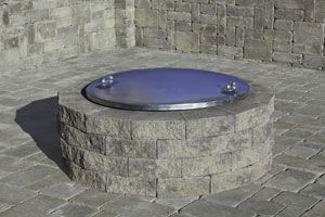 Cambridge Barbeque Fire Pit Cover This Optional Galvanized Steel Cover Prevents Dirt And Debris From Entering The Fire Pit Fire Pit Fire Pit Kit Fire Table