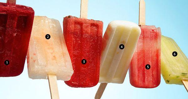 1.blackberry-yuzu, 2.grapefruit-ginger-lime, 3.strawberry-balsamic-basil, 4.lemon-buttermilk, 5.watermelon-lemon-mint, 6.honeydew-cucumber-lime-basil-mint - Augie's Gourmet Ice Pops available