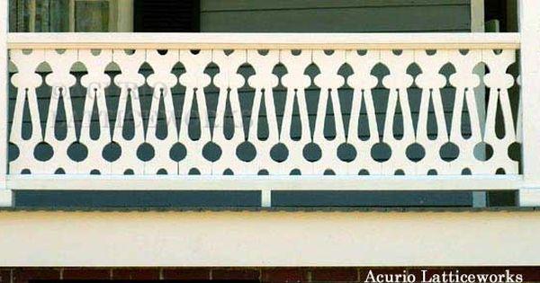 Vinyl Lattice Panels Porch Porch Railings And Front Porches