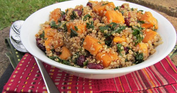 Sweet Potato, Kale, and Cranberry Quinoa Salad with Balsamic Dressing ...