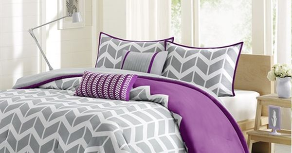 Nadia Comforter Set Bedroom Fun Chevron Patterns And