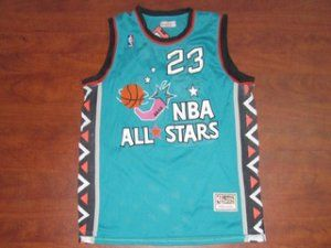 sports shoes 219df 7a5bd 95-96 NBA All-Star #23 Michael Jordan Blue Throwback Classic ...