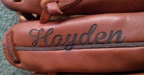 Engraved Leather Baseball Glove Engraved Baseball Baseball Glove Baseball