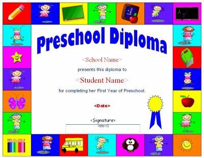 It is an image of Enterprising Printable Preschool Diplomas