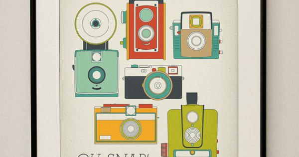 """OH SNAP!"" Retro Vintage Camera Art Print"