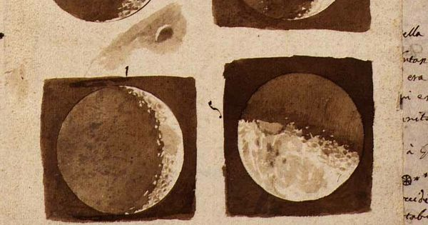 "beiges pages sketches of the moon from galileo's ""sidereus nuncius""galileo galilei moon"