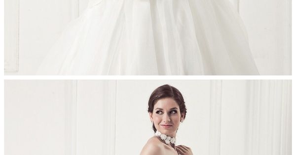 Strapless A-Line With Detachable Hand Made Flower Belt Weding Dress.