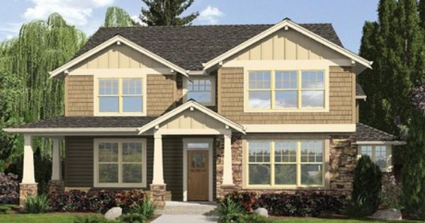 Shake and stone define this timeless craftsman style new for Craftsman model homes