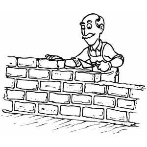 Man Building Wall Coloring Page Coloring Pages Pattern Coloring Pages Online Coloring Pages