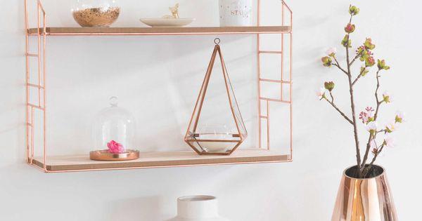 tag re murale en m tal 38 x 50 cuivre copper rose gold pinterest cuivre vase en. Black Bedroom Furniture Sets. Home Design Ideas
