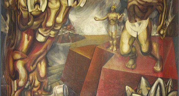 File mural david alfaro siqueiros en el tecpan tlatelolco for El mural de siqueiros