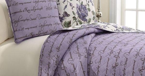 Bella Reversible Quilt Comforter Bedding 3 Pc Queen King