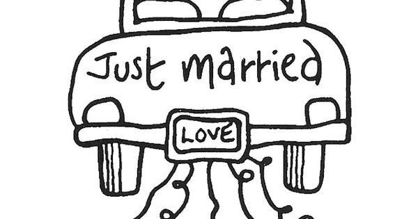 just married car  hochzeit  pinterest