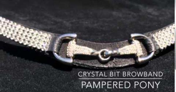 HKM Gold Crystal Black Leather Browband Cob /& Full