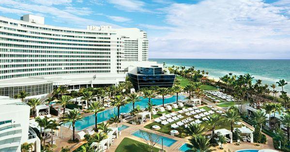 Pools & Beach At Fountainbleu Miami. Fav hotel in South Beach. Everything