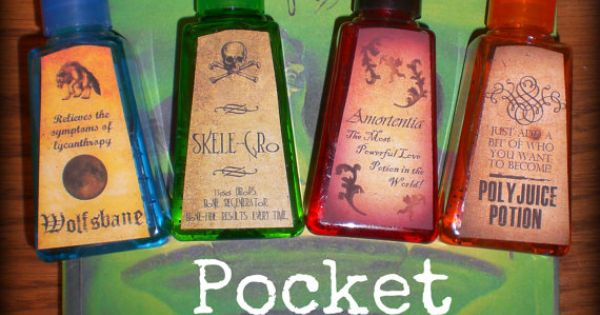 "Harry Potter party favors ""Pocket Potions"" (mini bottles of hand sanitizer)"