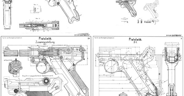 mauser p08 construction plan