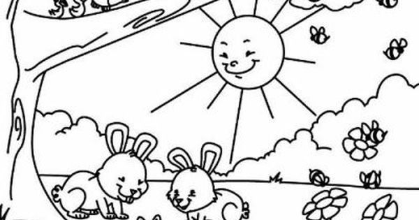 21 De Marzo Dia De La Primavera Para Colorear Spring Coloring Pages Spring Coloring Sheets Kindergarten Coloring Pages