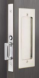 Emtek Products Inc 2114 Passage Emtek Modern Rectangular Solid Brass Mortise Pocket Door Passage Set The Hardware Hut Pocket Door Hardware Pocket Door Handles Pocket Door Lock