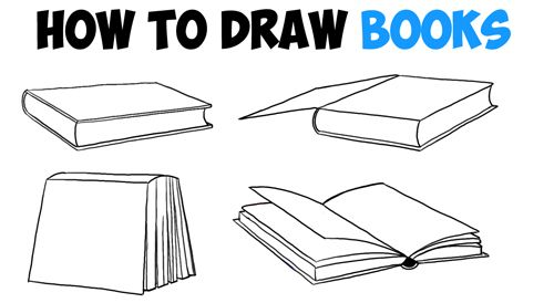 How To Draw Books In 4 Different Angles Perspectives Open