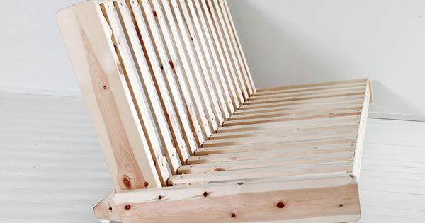 6 - Sofa-cama Fresh estructura en posicion sofa vista lateral  BedOffice  Pinterest ...