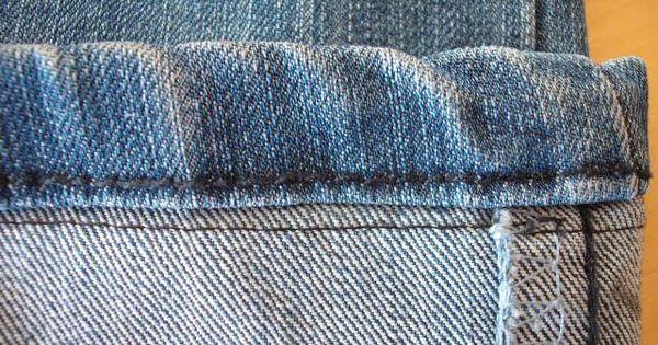 ourlet de jean en fran ais couture pinterest ourlet en fran ais et jeans. Black Bedroom Furniture Sets. Home Design Ideas