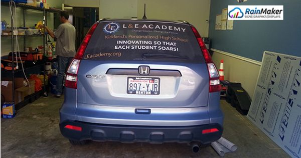 New Rear Window Graphics For High School Kirkland Wa Window Graphics Rear Window School Car