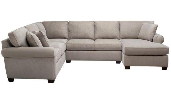 Art Van Marisol III 3-piece Grey Sectional Sofa Set
