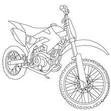 Trail Motorcycle Coloring Page Transportation Coloring Pages