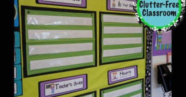 Classroom Rotation Ideas : Clutter free classroom my math workshop rotation board