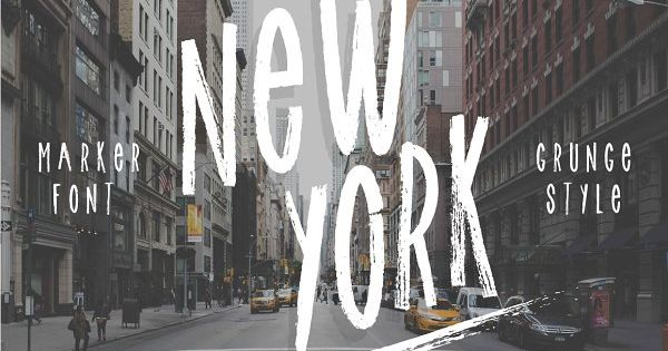 New York is a totally handmade marker font with an amazing kinda grunge style.