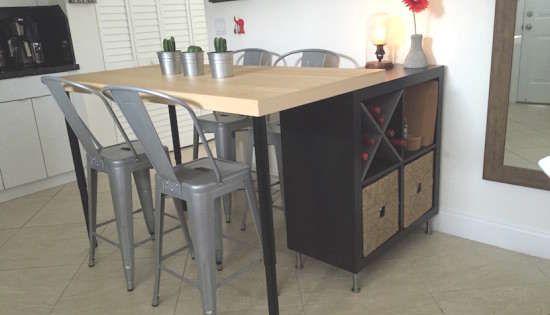 Fabriquer Un Ilot De Cuisine Avec Des Meubles Ikea Hack Ilot De Cuisine Ikea Ilot Cuisine Ikea