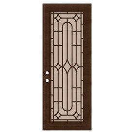 Titan Titan Security Doors Powder Coat Copperclad Aluminum Single Door Security Door Common 36 In X 96 In Actual 38 5 In X 97 563 In Lowes Com Security Door Window Grill Design Security Screen Door