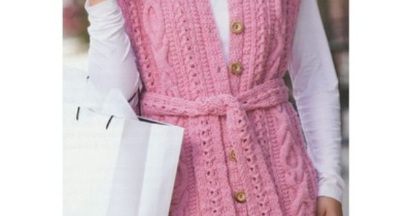 Debbie Macomber Knitting Patterns : Debbie Macomber Lace & Cables Vest Things to Wear Pinterest Debbie ...