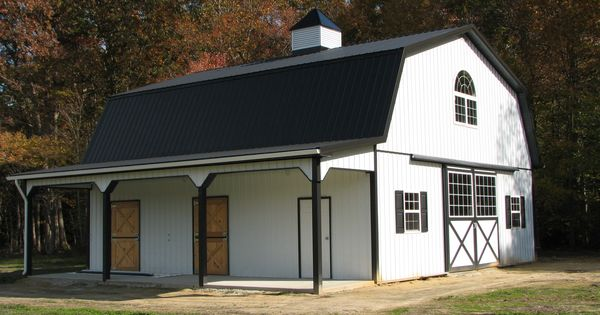 Flexible and adaptable pole barn house plans for you for Prefab barns with living quarters