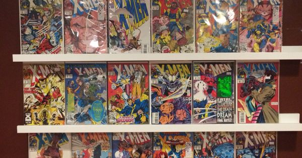 Ikea ribba picture ledges make great comic book display for Ikea comic book